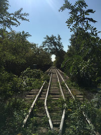 Railway in the Don River Valley Park