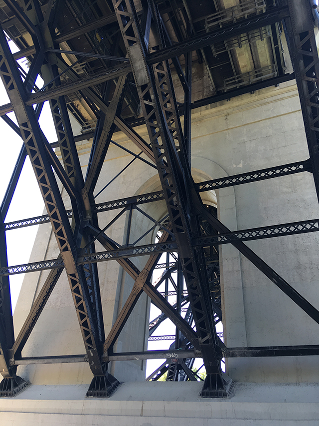 Underside of Bloor Viaduct. Photo: Virginia Overton