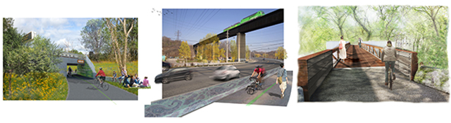 Renderings of possible improvements in the DRVP.